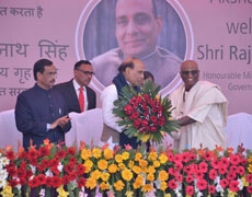 Mr. Rajnath Singh visits Akshaya Patra, Lucknow