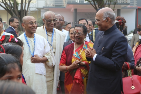 Honorable President of India Sri Ram Nath Kovind visits Vrindavan Chandrodaya Mandir